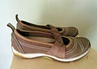 Ryka Women's Comfort Moc Mary Jane Athletic Walking Shoes Brown Leather Size 8