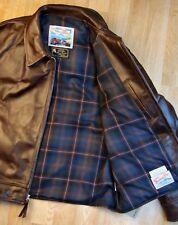 Aero Highwayman sz 48 (fits like 52) Brown Chromexcel FQHH Leather Jacket