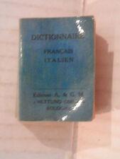 DICTIONNAIRE FRANCAIS ITALIEN Edizioni A & G M 1960 Formato mignon linguistica