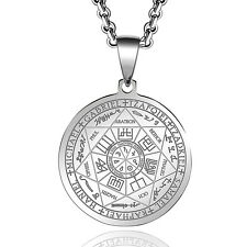 Seals of the Seven Archangels Pendant Necklace Stainless Steel Archangel