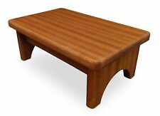 HollandCraft - New Wood Step Stool Wooden Foot Stool Bed Step Stool Beside Stool