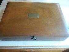 Naken Flatware Silverware Wooden Storage Chest Case Box Anti-Tarnish Needs Tlc