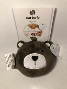 New NWT Carters Baby Calmer Soother Brown Plush Bear Vibrations White Noise