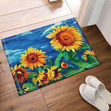 Kitchen Bath Bathroom Shower Floor Home Door Mat Rug Non-Slip Sunflower 40*60cm