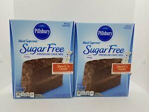 Pillsbury Sugar Free Devil's Food Premium Cake Mix 2 Pack SF 16 oz. Boxes