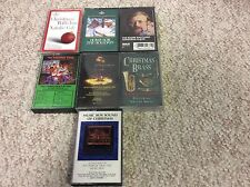 Lot 7 Christmas Cassette Tapes Mannheim Steamroller,Roger Whittaker Xmas Brass..
