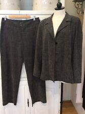 CHICO'S NEW Gray Womens Career Pant Sz 2 Suit Jacket Blazer Sz 3