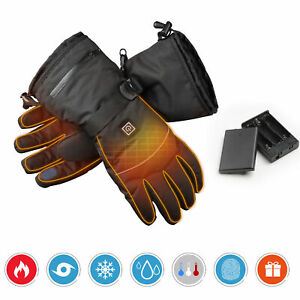 XLarge Electric Heated Gloves Thermal Hand Warmer Outdoor Men Touchscreen Winter