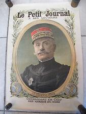 Affiche Le Petit Journal Général Foch Guerre 1914 1918
