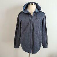 Adidas Track Jacket Men's L Clima-warm Hoodie Full Zip Fleece Lining Navy Blue