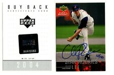2004 UD First Pitch Baseball Cliff Lee ROOKIE AUTO BUYBACK INDIANS 10/40