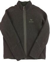 Arcteryx Men's Full Zip Up WOOL Hoodie Jacket Size Large Coat Arc'teryx