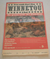klein Plakat , WINNETOU  2.Teil, Pierre Brice, Lex Barker, KARL MAY,DDR,Progress