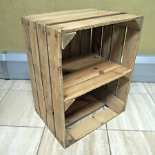 VINTAGE Rustic Scandi STYLE WOOD SIDE TABLE - Upcycled Vintage Used Fruit Crates