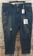Jessica Simpson Jeans womens 24W mika best friend distress embellished new O1