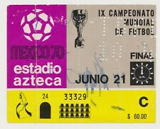 More details for 21st june 1970 world cup final brazil v italy in mexico city
