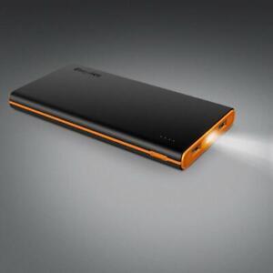 EasyAcc Externer Akku 10000mAh LED Powerbank klein für Smartphone Tablet