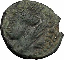 ELAGABALUS 218AD Edessa Mesopotamia Tyche Authentic Ancient Roman Coin i49142