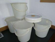Bienen Futtereimer mit Siebdeckel, 5 Liter, Bienenfütterung, 5 Stück/Pack gebr.