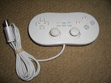 NINTENDO GAMECUBE & WII WIRED CLASSIC STYLE CONTROLLER GAMEPAD GAME PAD in White