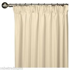 Faux Silk Fully Lined Ivory Pencil Pleat Curtains 44 X 90 Lounge Bedroom Drapes