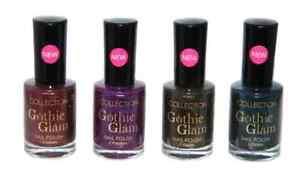 Collection Gothic Glam Nail Polish~Deadly, Dramatic & Phantom ~ HALLOWEEN NAILS
