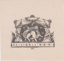 Ex-libris érotique anonyme par Ruda KUBICEK (1891-1983) - République tchèque