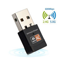 5GHz Mini Dual Band Dongle Wireless Receiver Network Card USB WiFi Adapter