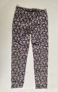 GYMBOREE COWGIRLS AT HEART LEGGINGS 6 BROWN LAVENDER FLOWERS Spring BOTTOMS