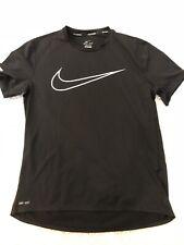 Mens   Medium   Nike Dri Fit   Running   Short Sleeve Shirt   Black