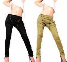 Bequem sitzende Damenhosen im Baggy-Stil aus Baumwolle