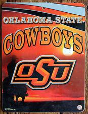 Licensed NCAA Plastic Sign Oklahoma State University Cowboys Wall Decor