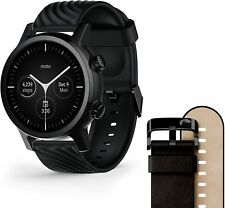Moto 360 3rd Gen 2020 - Wear OS by Google - The Luxury Stainless Steel with and