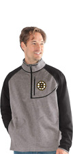NHL G-III Mens Boston Bruins 1/2 Zip Sweatshirt Pullover XL NEW Pastrnak B's