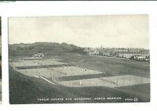 Postcard Tennis Courts & Quadrant North Berwick East Lothian 1924 Bromotype