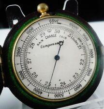 Antique Pocket Compensated Barometer in Case c.1900