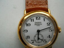 Emerich Meerson women's Brown leather,winding up,water resistant & Analog watch.