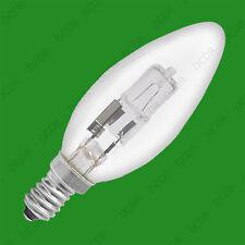 2 x 28W Halogen klar dimmbar Kerze Energiesparlampen SES E14 Lampe