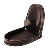 Brown Leather Horseshoe Coin Change Pocket Hard Case Holder Purse Men Gift