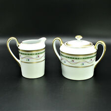 Faberge Luxembourg Limoges Sugar Bowl & Creamer 24k Decoration