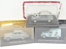 Ixo Presse 1/43 - Lot de 3 : Citroen 2CV Sahara 4X4 et Leroux  - Peugeot 203