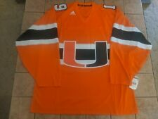 Miami Hurricanes Adidas Men's Orange Hockey Jersey sz XXL