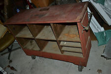 Antique CAST IRON Industrial Steampunk  Bar Liquor cabinet Vtg