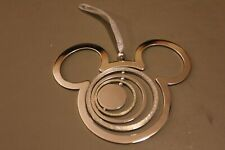 New listing Disney Mickey Mouse Icon Spinner Silver Metal Ornament