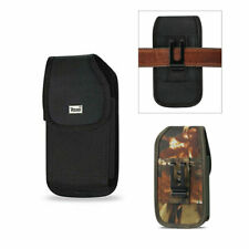 For Iphone 8 / 7 / 6 / SE 2020 Reiko Black Rugged Nylon Pouch Holster Case