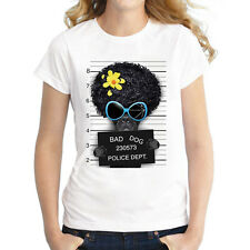 Damen Frauen Kurzarm T-Shirt Sommer Tops Oberteil Shirts mit lustigen motiven