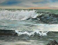 Original Oil Painting Cornwall Cornish Art 'Serendipity' Seascape by Maddy Reid