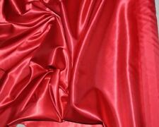 "POLYESTER SATIN FABRIC  RED 60"" BY THE YARD , BRIDAL, FORMAL, GOWNS, HOME DECOR"
