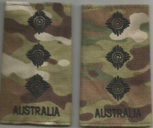 Multicam Army Australia Rank Slides CAPT X2