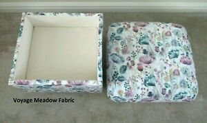 Storage Footstool Voyage Meadow Lilac Fabric Pouffe Footstall Floral Purple Pink